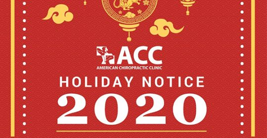 HOLIDAY NOTICE OF NEW YEAR & LUNAR NEW YEAR 2020