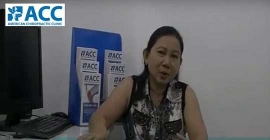 Ms. Huynh My Tuyet, 53 years old, Condition: Chronic back pain for many years