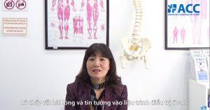 Cô Lê Thị Nguyệt Oanh điều trị tại ACC