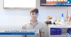 Mr Duong Dang Quyet is a patient with certain conditions such as disk herniation usually appear in elderly people