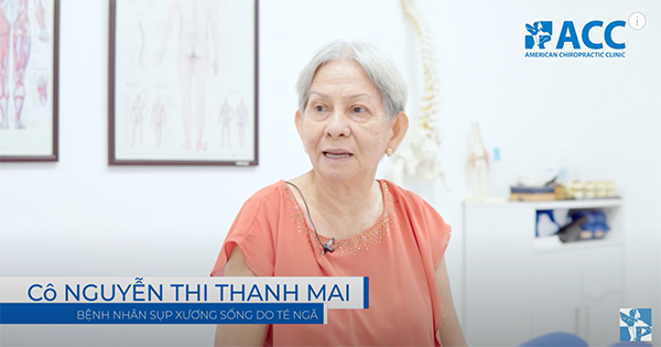 Auntie Thanh Mai, her spinal condition is not only age-related but also the result after many years having sacrificed for her loved ones