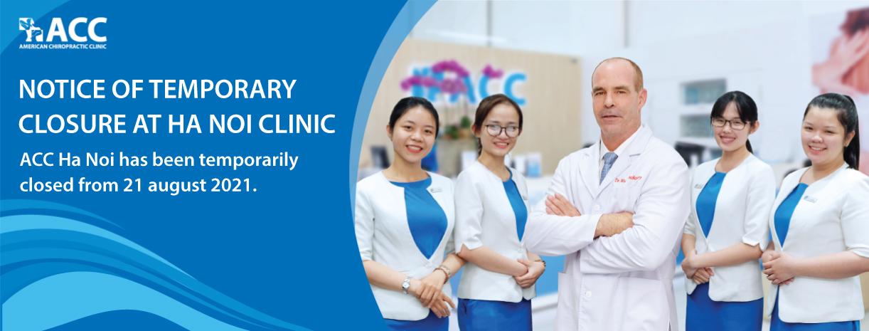Notice of temporary closure at Ha Noi clinic
