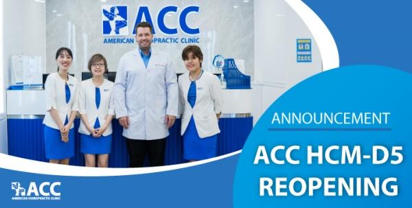 Announcement – ACC HCM D5 Tan Da officially reopen!