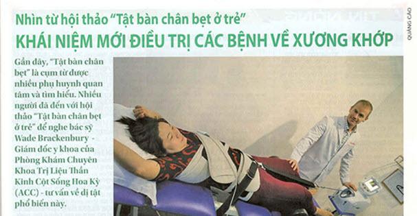 Khái niệm mới điều trị các bệnh về xương khớp (Trên báo tuổi trẻ cuối tuần phát hành ngày 14/12/2014)