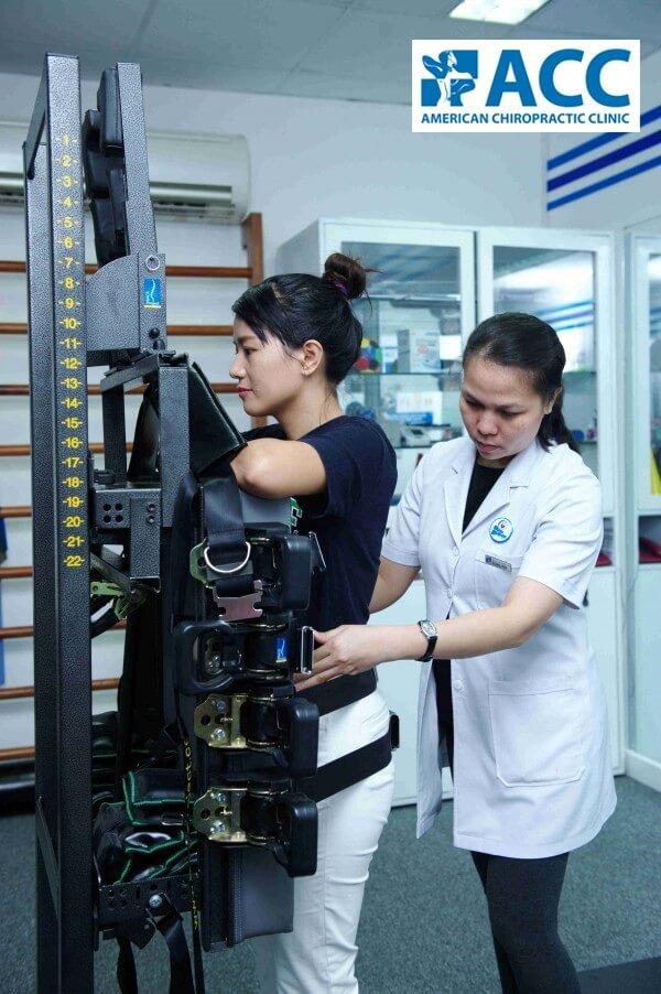 tập vật lý trị liệu tại Phòng Khám ACC