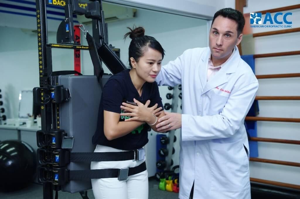 Bệnh nhân tại ACC đang được điều trị với máy ATM2