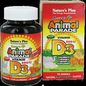 Kẹo bổ sung Vitamin D3 hình thú cho bé – Animal Parade Vitamin D3 Children's Chewable