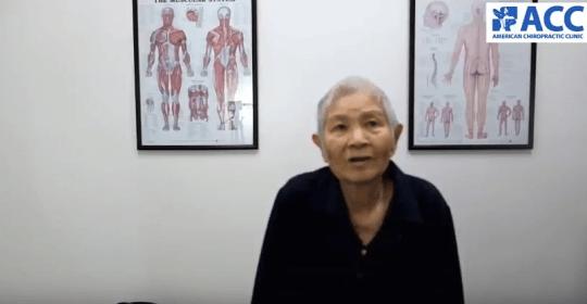 ACC trị dứt đau thần kinh tọa cho bệnh nhân 82 tuổi
