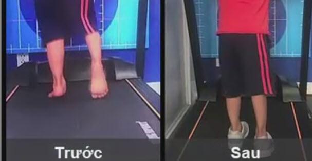 Cải thiện dáng đi bằng đế chỉnh hình bàn chân