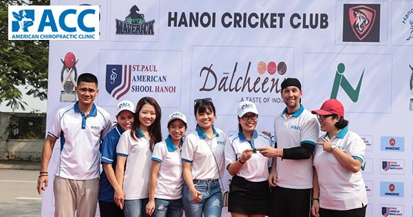 ACC sát cánh cùng các vận động viên quốc tế tại giải Cricket Hà Nội 2018