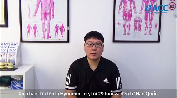 Anh Lee Hyunmin khám và chữa thoát vị đĩa đệm tại phòng khám ACC