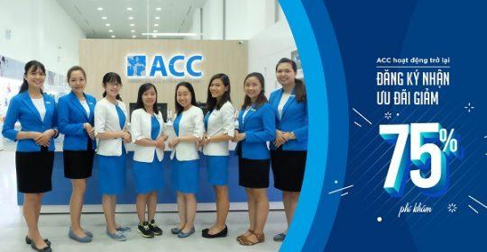 Đăng ký nhận ưu đãi giảm 75% phí khám tại ACC – CTƯĐ đã kết thúc