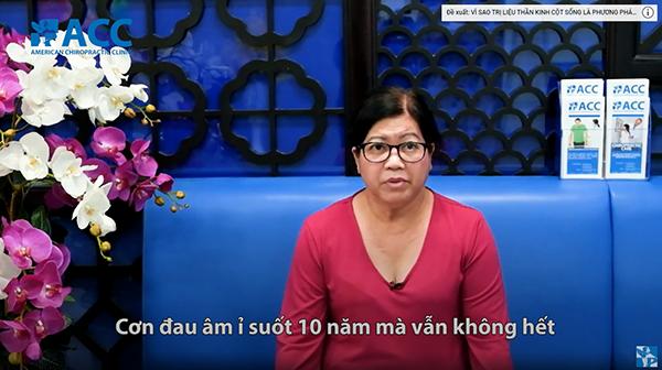 Cô Đinh Thị Thu Hương mắc Thoát vị đĩa đệm