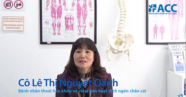 Cô Lê Thị Nguyệt Oanh thoát khỏi cơn đau xương khớp sau 20 năm