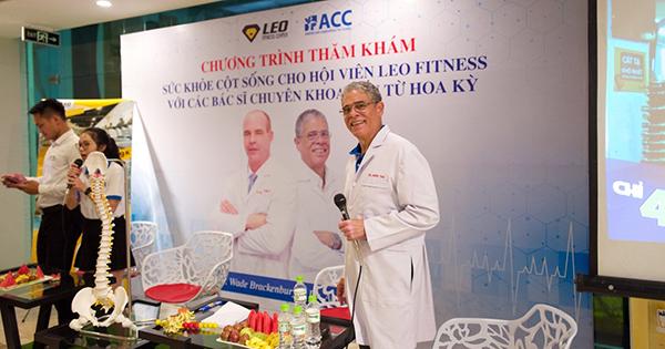 hội thảo sức khỏe cột sống cho hội viên Leo Fitness