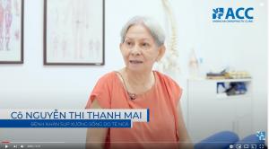 Cô Mai được điều trị kéo dãn giảm áp cột sống DTS giúp giảm áp lực trên cột sống thắt lưng, giảm co cứng cơ.