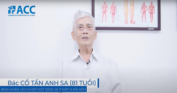 Điều trị thành công đau cột sống mãn tính ở bệnh nhân 81 tuổi