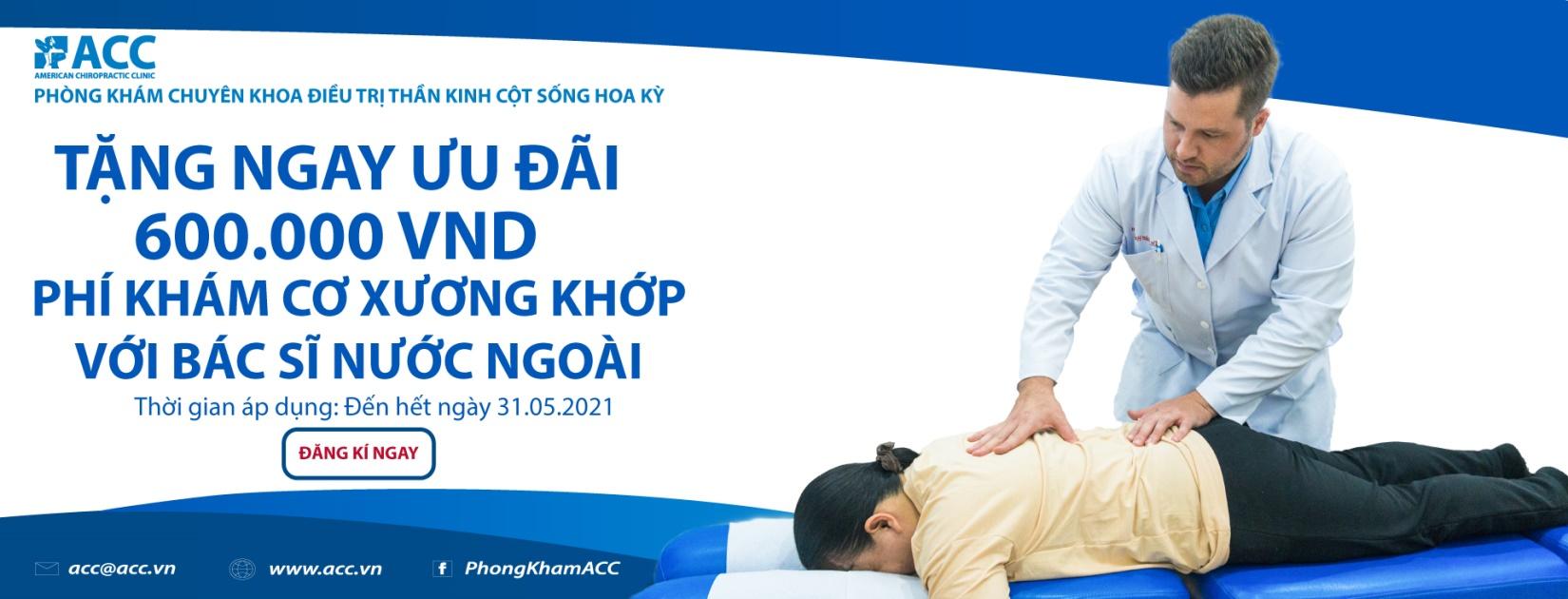 ACC giảm phí khám cơ xương khớp lần đầu với bác sĩ nước ngoài