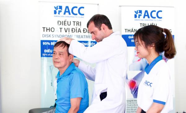 chữa đau mỏi cổ vai gáy tại phòng khám ACC