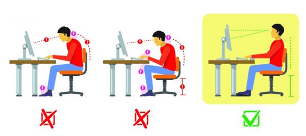 tư thế ngồi đúng khi làm việc