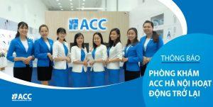 Thông báo - ACC chi nhánh Hà Nội mở cửa trở lại